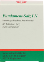 FUNDAMENT Salz I N Tabletten